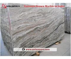 Torronto Brown Marble Slab in India Anil Exports