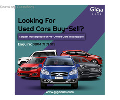 Used Cars in Bangalore - Second Hand Cars for Sale   GigaCars